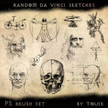 Random Da Vinci Sketches by autormali