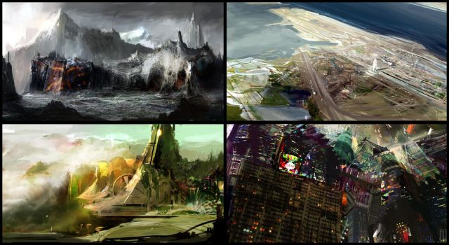 Concept Environments by GolpeArt