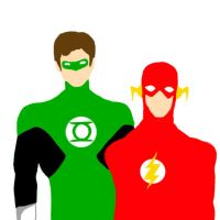 Green Lantern and Flash by 23-ZiZ-23