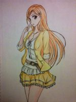 Anime girl - Orihime Inoue by ztgong