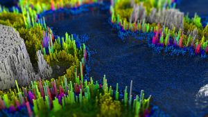 Island Topography by Benjhs