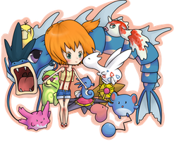Misty and her Pokemon