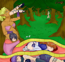 Noira eats some Ninjas by Canime by Shaded-Seraphim