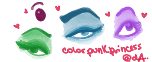 Eyes -first trial- by ColorPunkPrincess