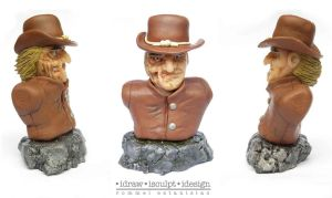 Jonah Hex Mini Bust by Dinuguan
