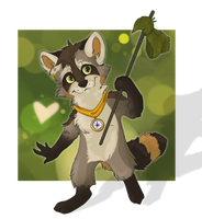 Little racoon by orum-the-cat