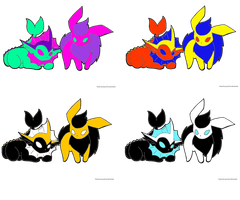 Eeveelution Adopts :OPEN: by Shade-Hero-Project-X