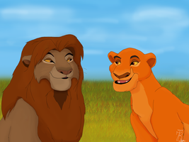 Sarabi and Mufasa switched genders by JR-Style