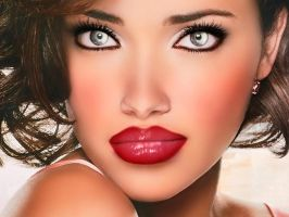 Red lips by Sherit-Ra