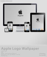 Apple Logo Leather Wallpaper by fredrikaw