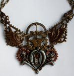 Dis.2013 keyhole gear necklace II by Pinkabsinthe