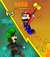 Mr.l VS Mario by ruseau