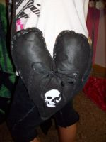 skull heart purse by 6death6stars6