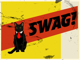 Swag Cat by badcop69