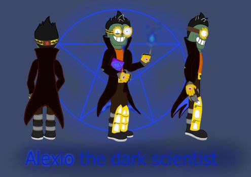 Alexio the dark scientist (updated) by megalon1337