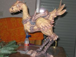 FFXI Chocobo Papercraft, photo by the-Adventurer-0815