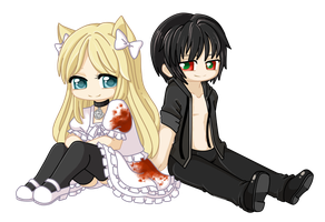 Chibi Commission:  Lacrirosa by TsukiHina