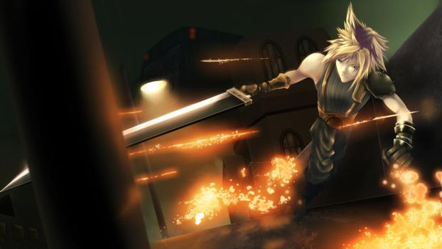 Cloud Strife, former SOLDIER by Claarin