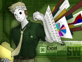 Microsoft Excel Man by cocon