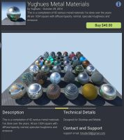 UE4 Marketplace : Metals pack by Nobiax