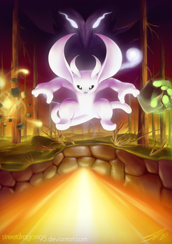 Ori and the Blind Forest fanart: Fleeing Kuro by streetdragon95
