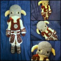 Dovahkiin amigurumi from Skyrim by ForgottenMermaid
