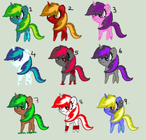 Pony Adopts 1 - 3/9 OPEN by Seek-the-Moon