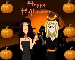 Happy Halloween Cana and Lucy by IceCreamBubblegum
