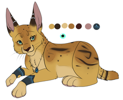 Serval adoptable auction CLOSED by Searii