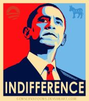 Indifferent Obama by Conservatoons