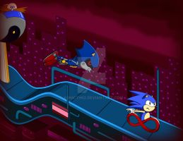 Blue Race - For Sonic CD Contest by Sonicth62