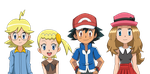 XY anime cast in MSPaint by FloisonKeya