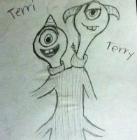 Terri and Terry by InvaderAllieNinja