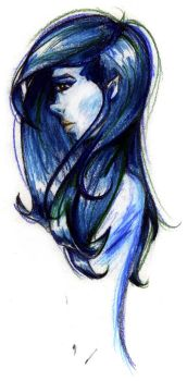 untitled, blue girl by ericalesaint