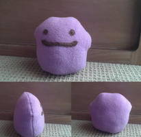Ditto Plushie by Ribbon-Wren