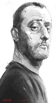 Face of a professional_ Jean Reno by ali-kiani-amin