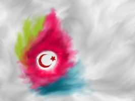 I like it Turkey Flag by HalitYesil