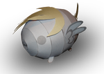 Derpy Hooves Blob Pony Papercraft by RocketmanTan