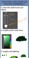 How to draw a simple tree in photoshop by SharletTheCat