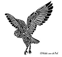 Barn Owl Tribal by Nikki-vdp