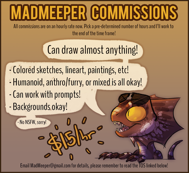 2017 Commission Information! by MadMeeper
