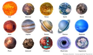 Bumpy Planets icon pack by Zairaam