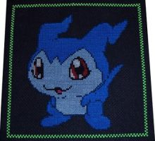 Demiveemon Cross Stitch by chujo-hime