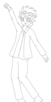 Reno paperchild lineart by MikariStar
