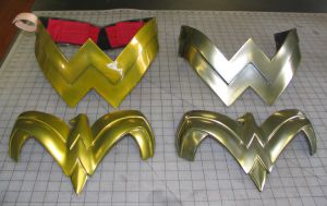 Wonder Woman armor pieces by Vermithrax1