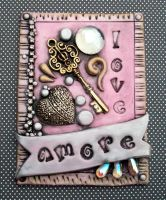 Amore ACEO Polymer clay by MandarinMoon