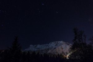 mountain with stars by ~alien8y