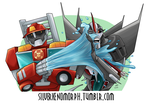 Heatwave vs Starscream by SilverXenomorph