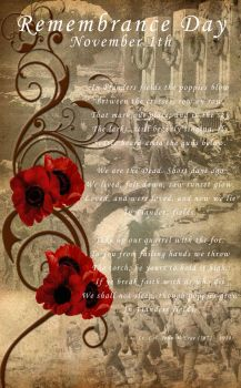 Remembrance Day Poster by Saraella