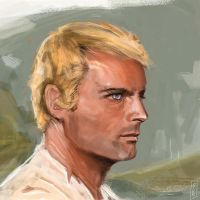 Terence Hill Speedpaint by Xhuuya